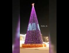 На пиксельной елке в Уфе написали поздравление на башкирском языке с двумя ошибками