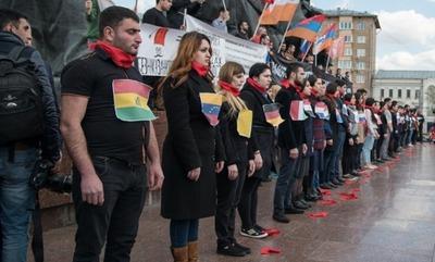 Армяне Москвы провели митинг в день 101 годовщины геноцида народа