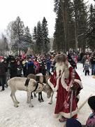 В Петрозаводске отметили Старый Новый год с карельским Дедом Морозом Талви Укко
