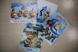 На Алтае выпустили национальные новогодние открытки