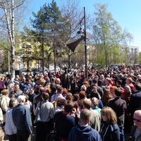 Открытие памятника Юрию Левитану во Владимире