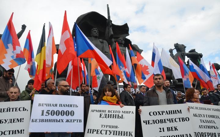 Митинг в память о жертвах геноцида армян