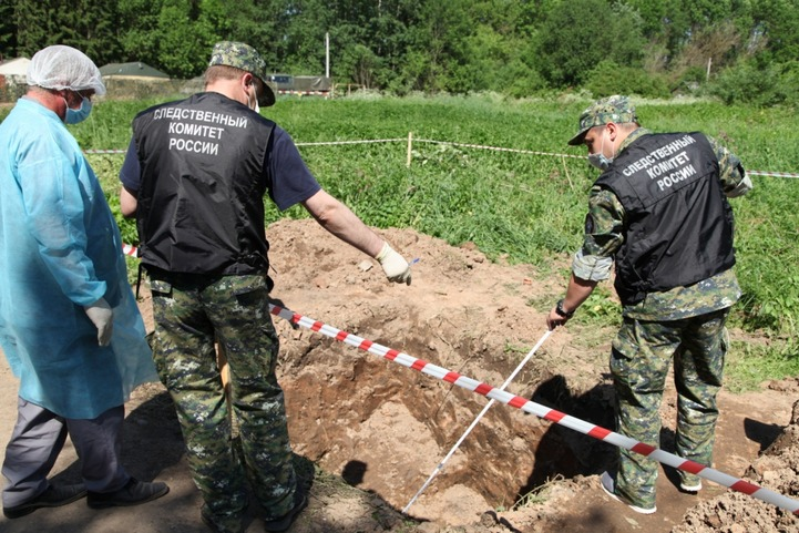 Захоронение убитых нацистами граждан нашли в Пскове