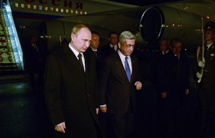Путин побывал в Армении на мероприятиях, приуроченных к 100-летию геноцида армян