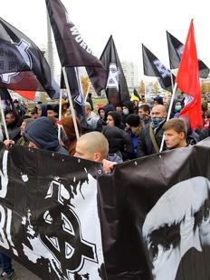 "Националисты прошли ""Русским маршем"" в Москве"