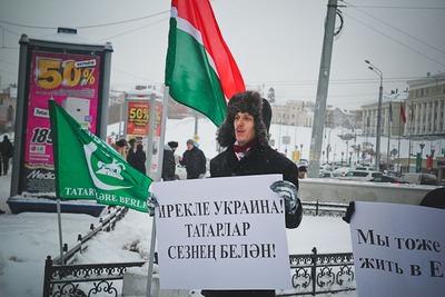 Татарские националисты поддержали митингующих на Евромайдане
