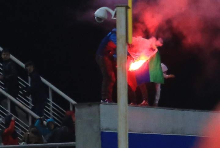 Краснодарский футбольный клуб оштрафован на полмиллиона за инцидент с поджогом флага Дагестана
