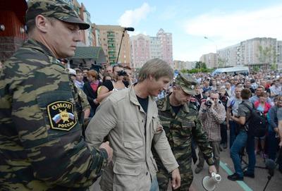 Националисты заявили о незаконных задержаниях участников народного схода в Удомле