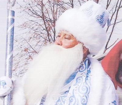 В Омске встретились русский Дед Мороз и казахский Аяз Ата