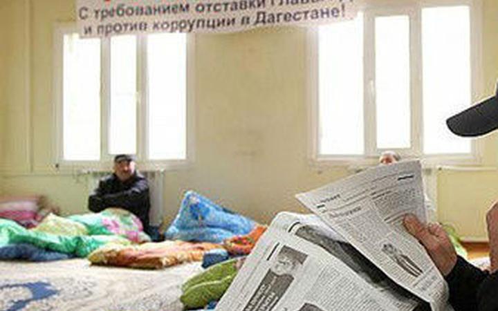 Протестующие жители Дагестана временно прекратили голодовку