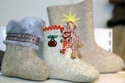 Челябинские модницы погуляли на празднике русского валенка