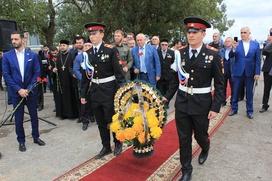 Памятную стелу в честь армянских солдат установили в Чечне
