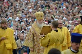 Патриарх Кирилл заговорил по-алтайски во время богослужения
