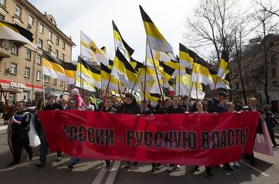 Русские националисты прошли 1 мая по стране
