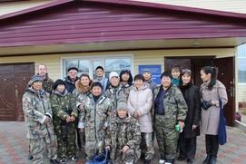 Буран помешал протесту жителей национального села на Сахалине против лесорубов