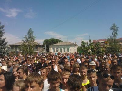 Жители Пугачева провели несанкционированный митинг и перекрыли трассу Волгоград-Самара