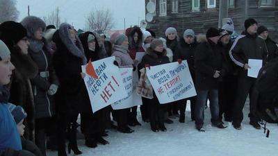 Жители Коми снова потребовали от властей демонтировать буровую в Усинском районе