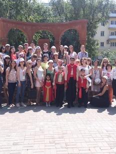 Выпускники Школы межэтнической журналистики приняли участие в праздновании Дня ВМФ в Астрахани