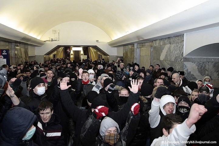 Подростковый националистический митинг в Москве собрал 200 человек