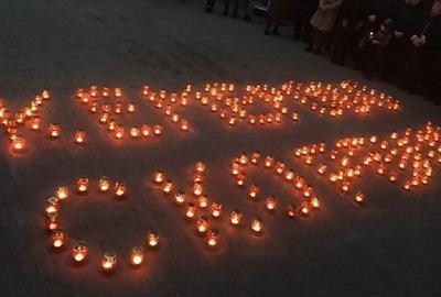 Память погибших в Кемерово почтили в бесланской школе №1