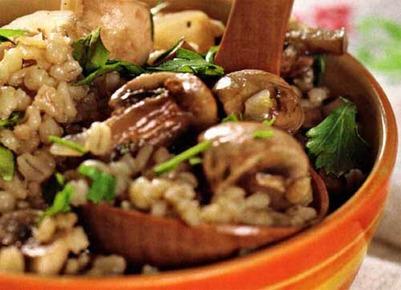 Губинча, или жареные грибы с перловкой