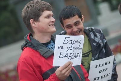 В Казани русские активисты в организовали пикет против военной операции в Сирии