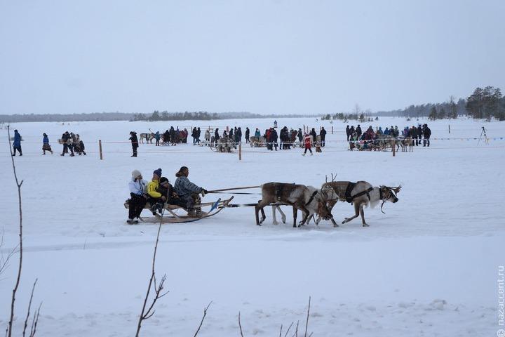 Оленеводы и чумработницы приняли участие в гонках на оленьих упряжках в Нарьян-Маре
