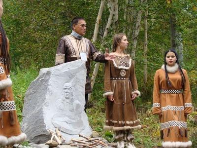 В этнокультурном центре Камчатки открыли памятник шаману и хореографу
