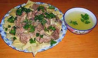 Бешбармак - национальное казахское блюдо