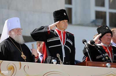 Казаки отметили день реабилитации парадом с участием 5 тысяч человек