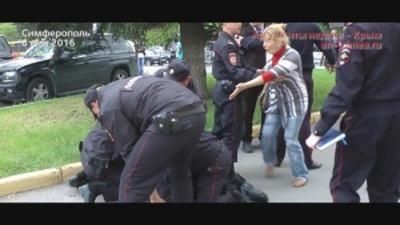 В Симферополе разогнали несанкционированный казачий митинг