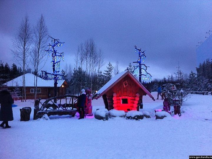 В карельском селе открыли вотчину национального Деда Мороза - Талви Укко