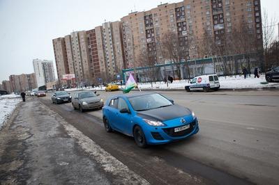В Новокосино прошел автопробег против стройки гостиницы