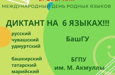 Диктант на шести языках напишут в Международный день родных языков в Уфе