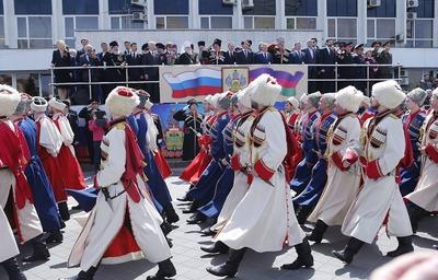 На Кубани отметили 25-летие Кубанского казачьего войска и закона о реабилитации