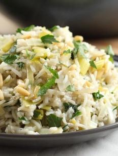 Лук-порей с рисом (прасоризо)