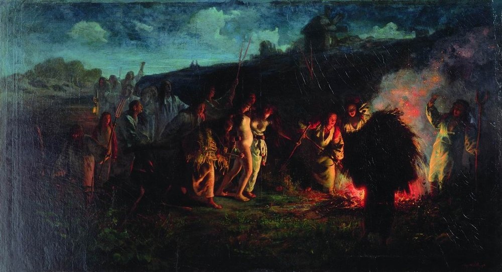Г.Г.Мясоедов. Опахивание. 1875.