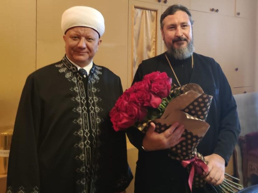 Альбир Крганов с митрополитом Чебоксарским и Чувашским Савватием