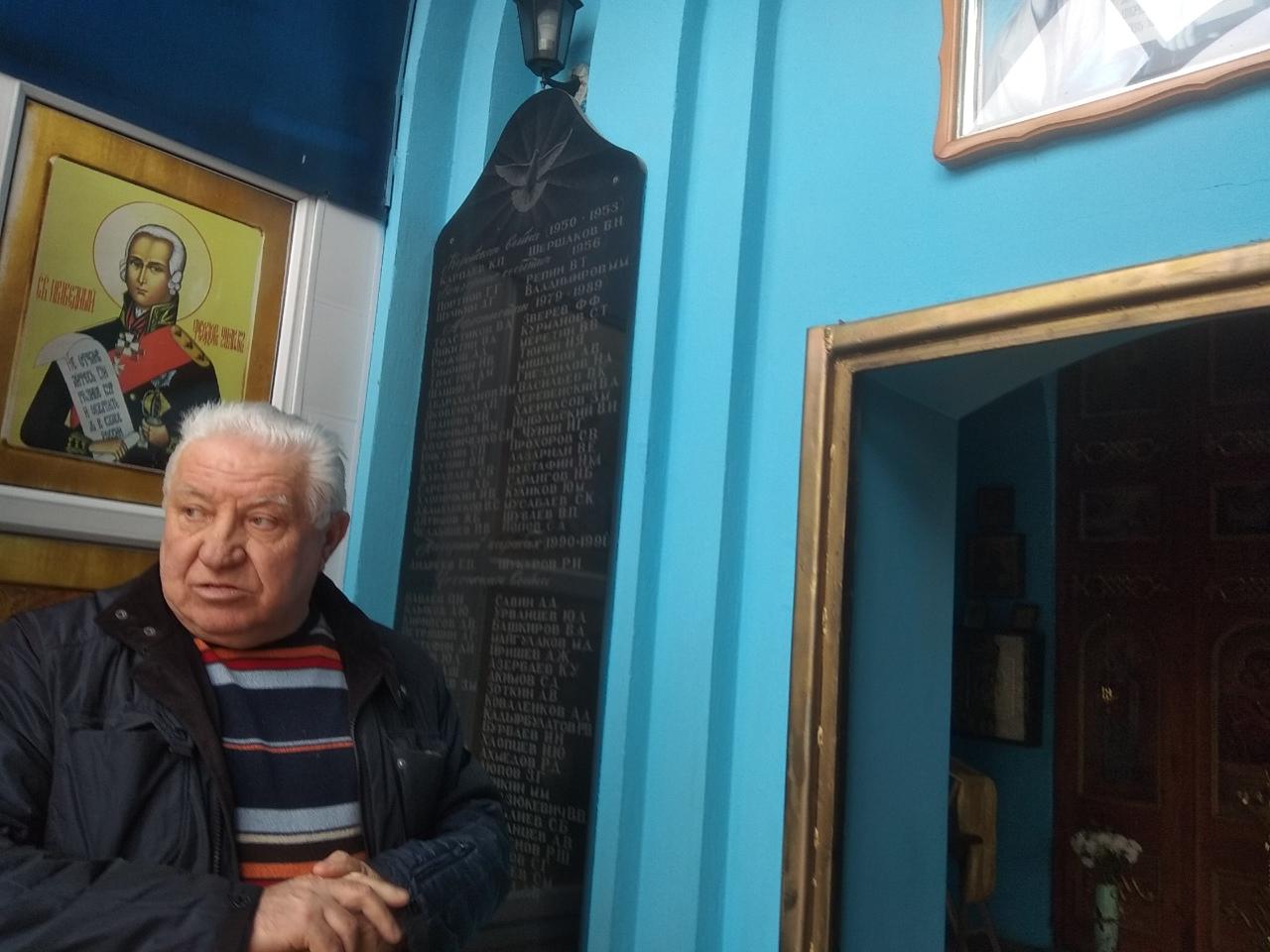 Николай Насад в храме