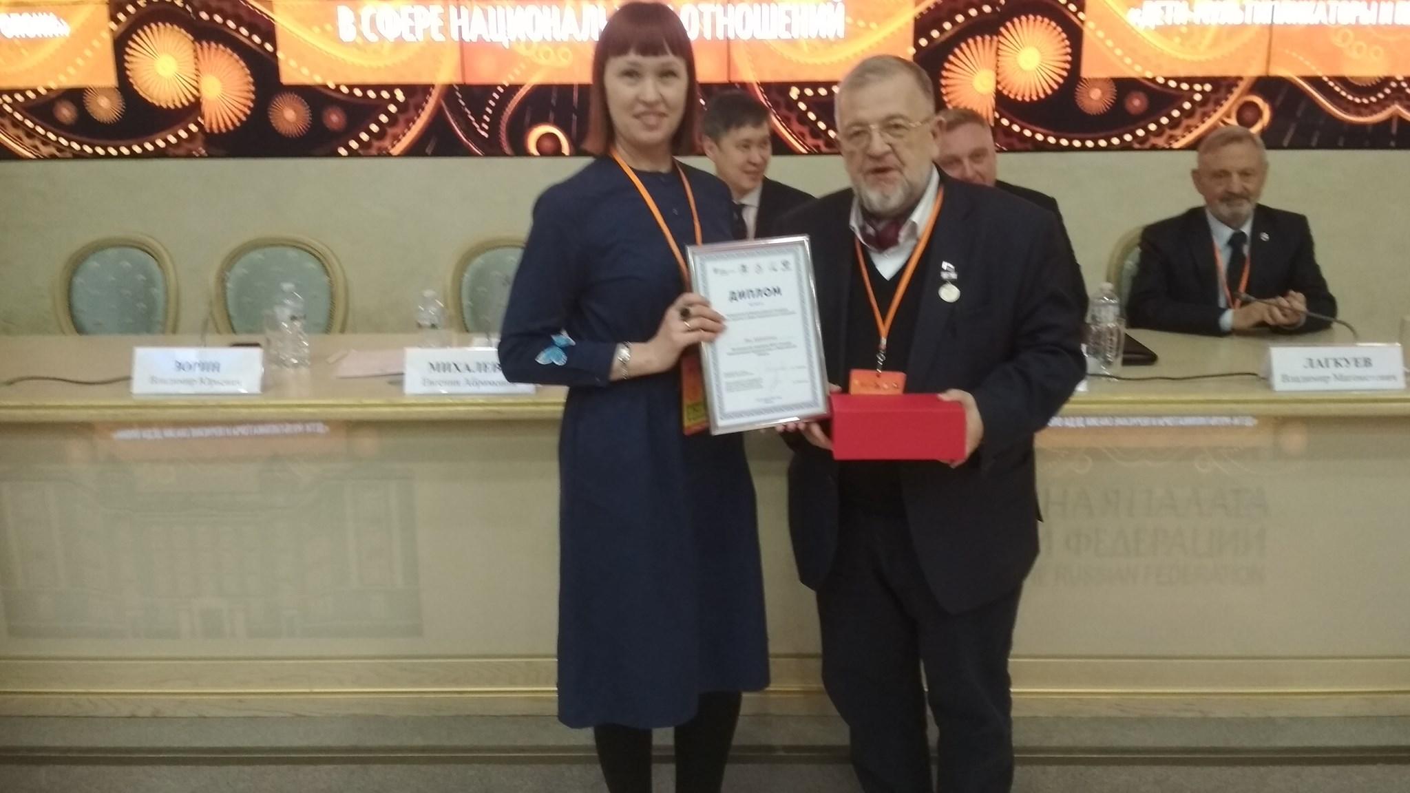 Руководитель воронежского отделения ГМЖ Мария Андреева и председатель комиссии ОП РФ Владимир Зорин