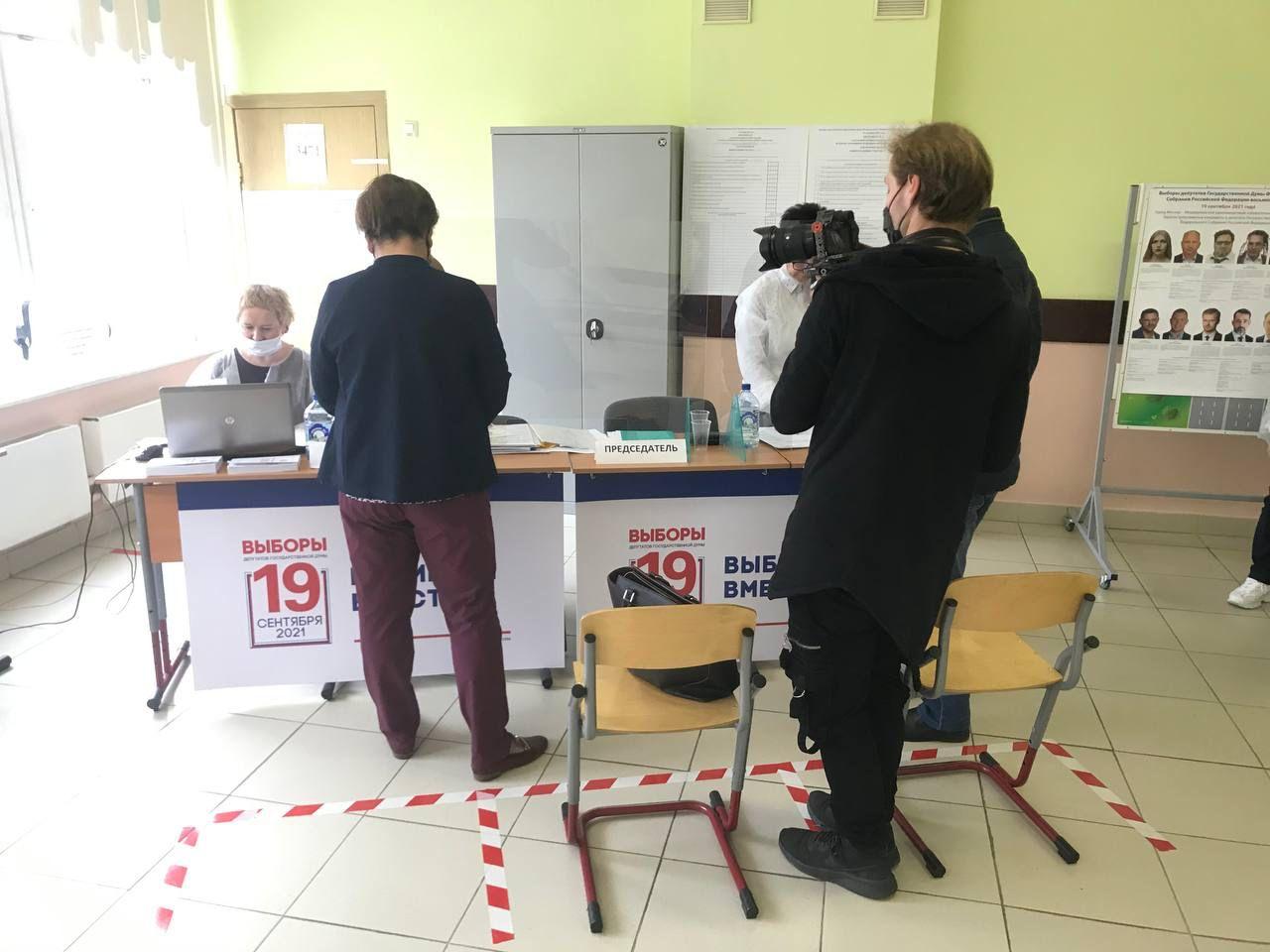 Маргарита Лянге голосует