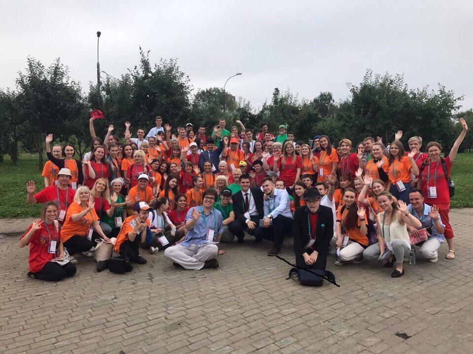 Волонтеры праздника Московский сабантуй